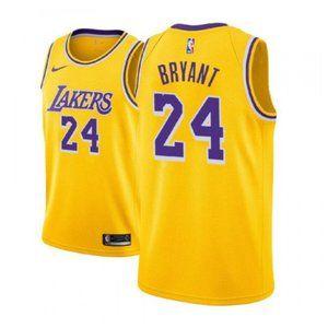 Women Lakers #24 Kobe Bryant Jersey yellow